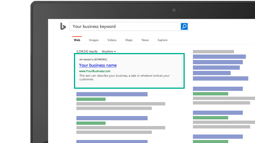 advertising channels for business - bing ads