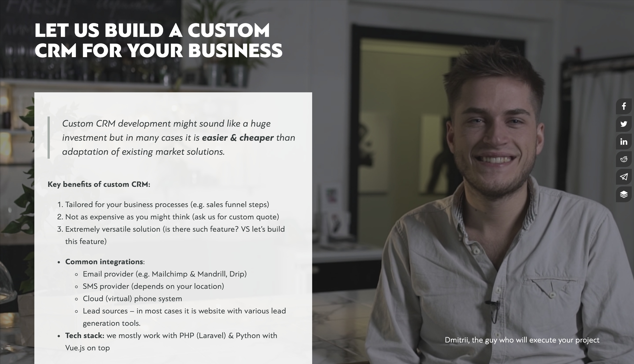 b2b sales consultant naked self promo example