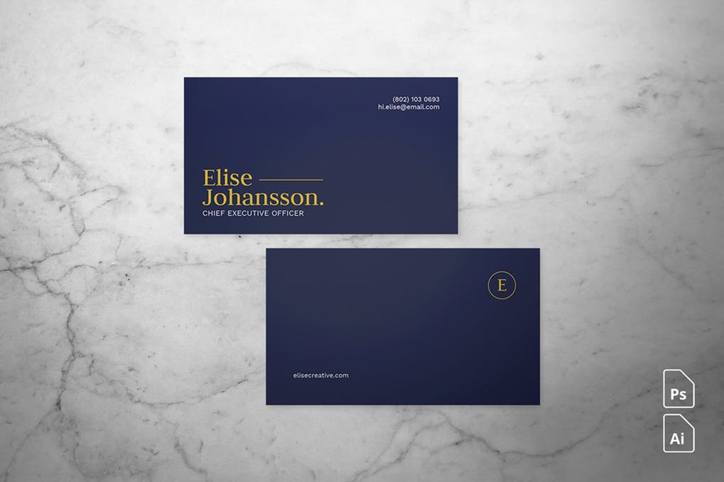 art director's pick of accounting business card #4