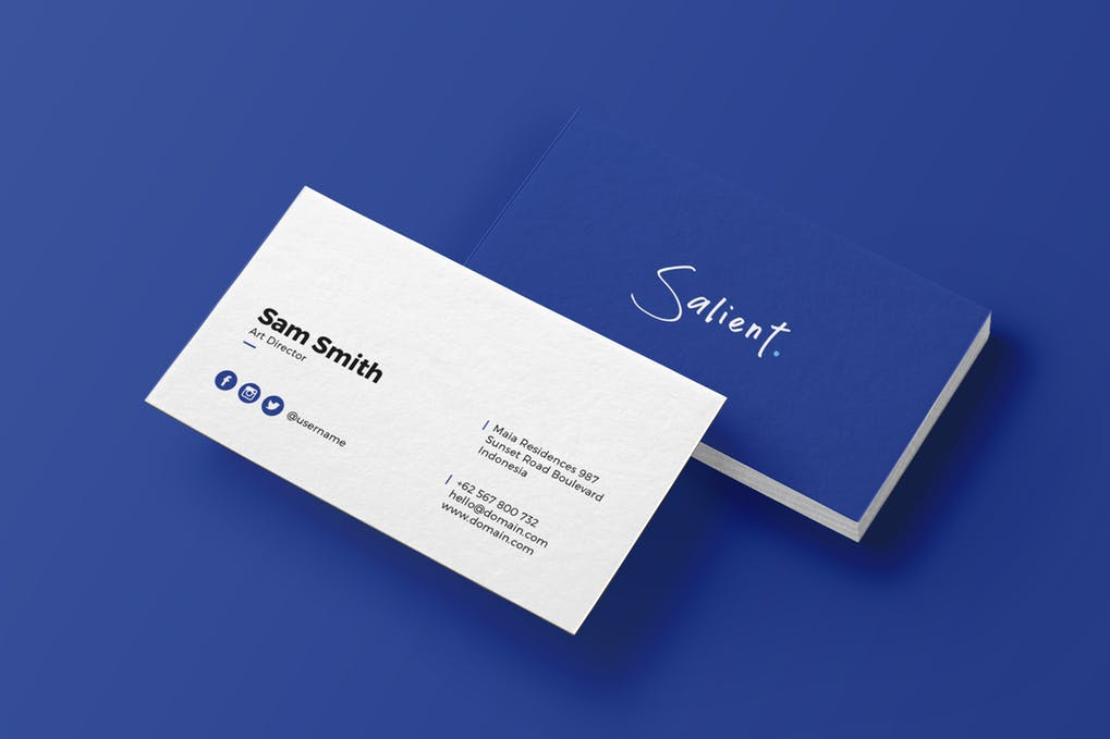 art director's pick of accounting business card #6
