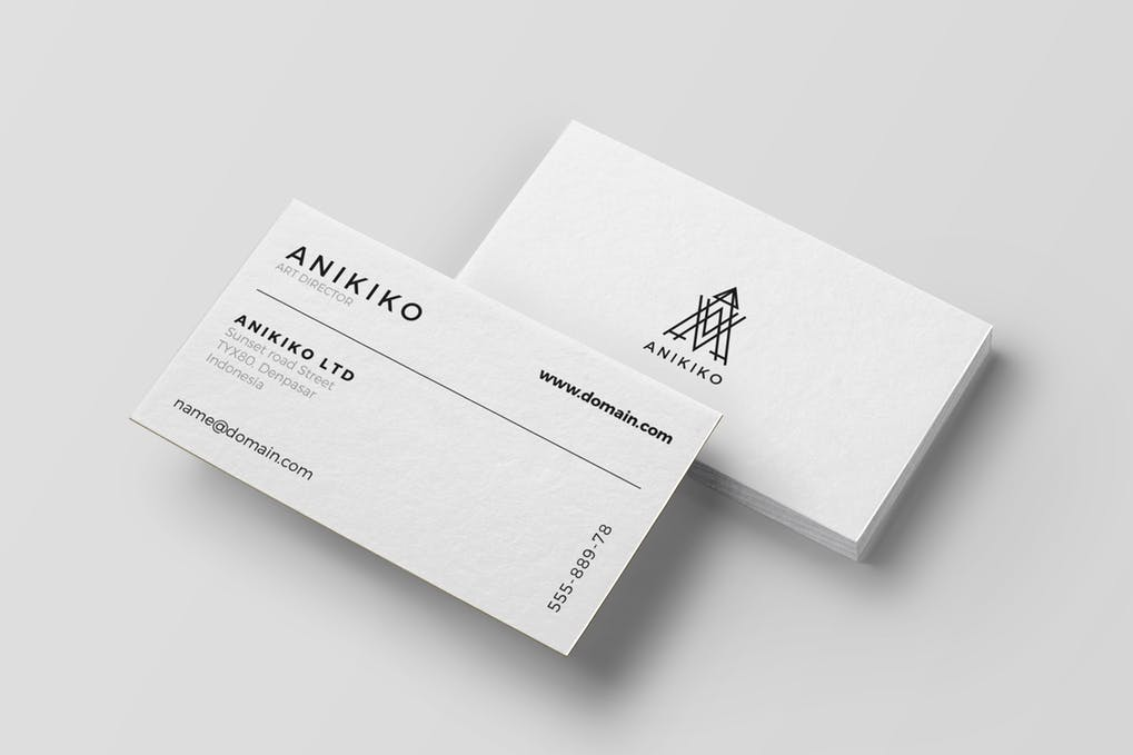 art director's pick of accounting business card #7