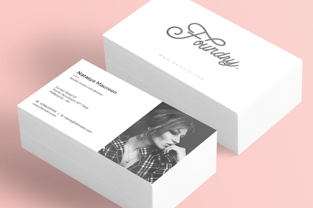 art director's pick of actor business card #2