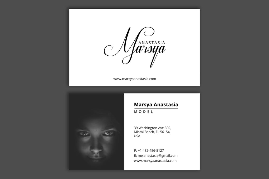 art director's pick of actor business card #4