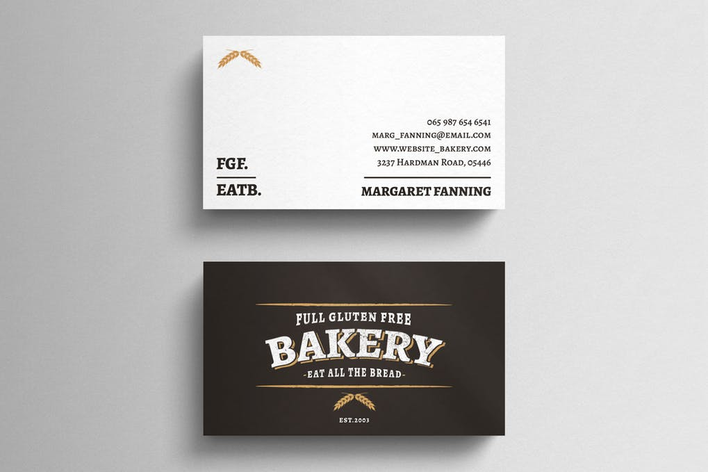 art director's pick of bakery business card #1