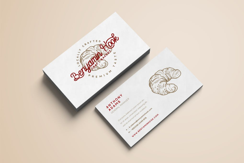 art director's pick of bakery business card #2