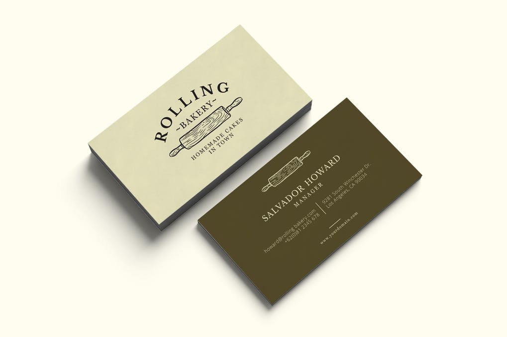 art director's pick of bakery business card #3