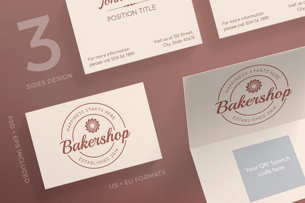 art director's pick of bakery business card #4