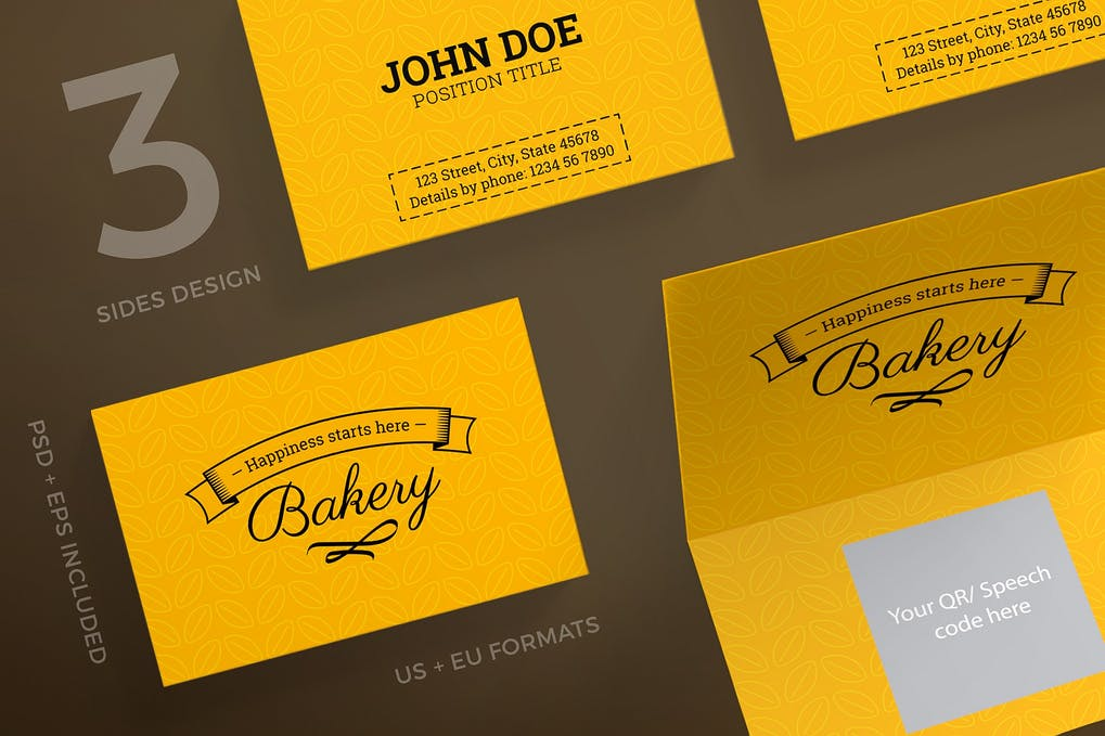 art director's pick of bakery business card #5