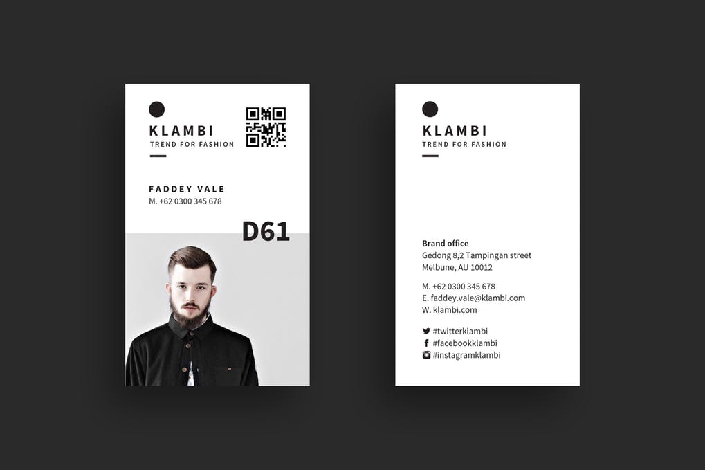 art director's pick of barber business card #1