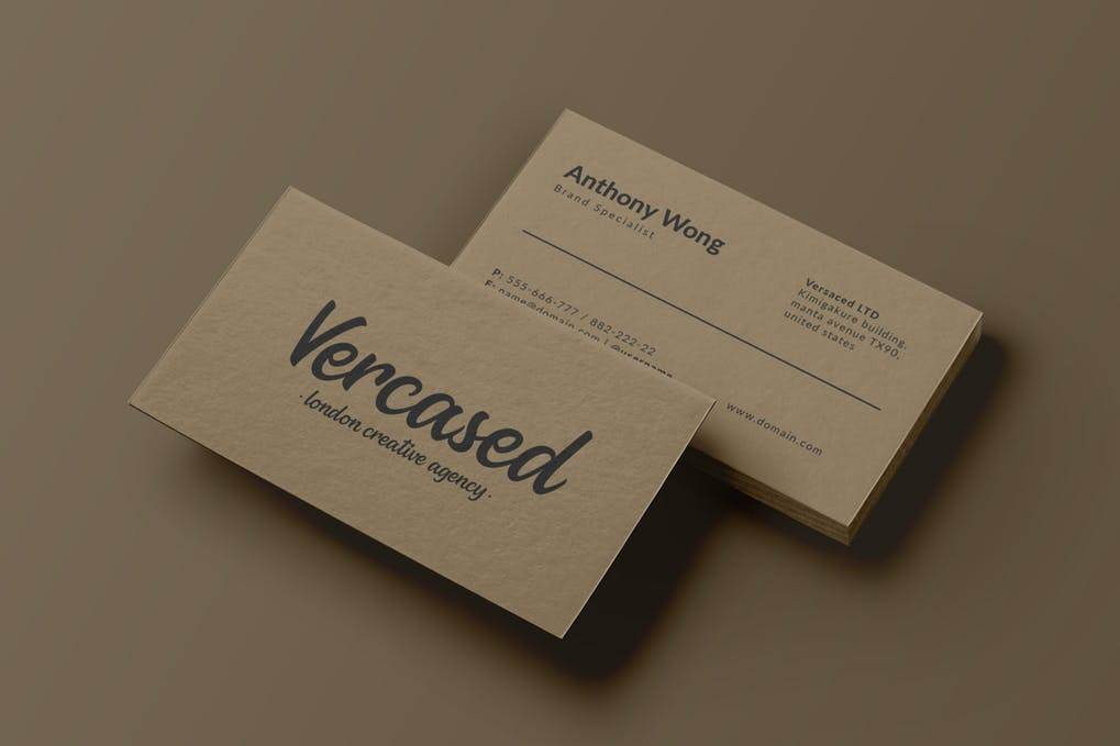 art director's pick of barber business card #2