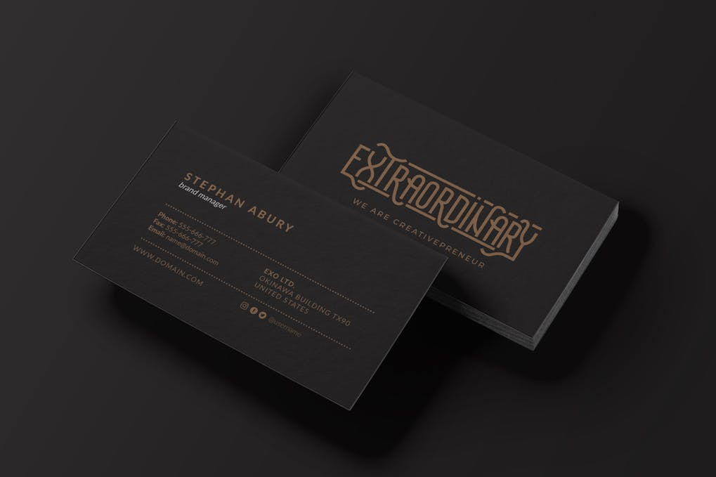art director's pick of barber business card #3