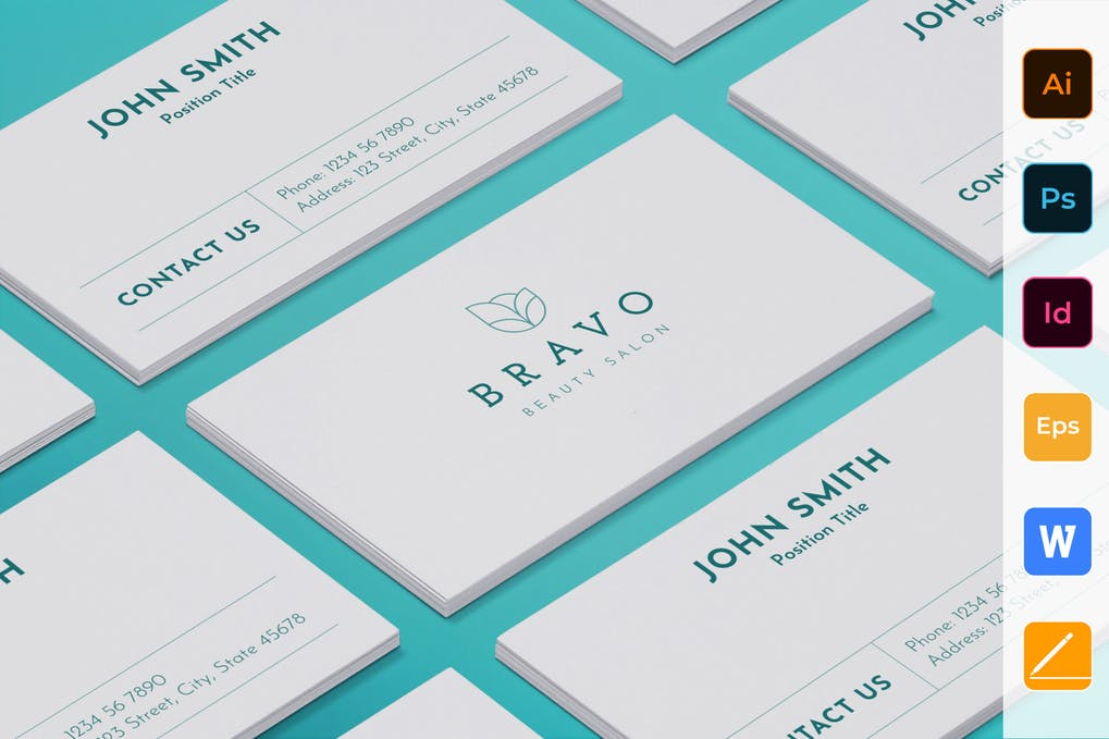 art director's pick of beauty salon business card #1