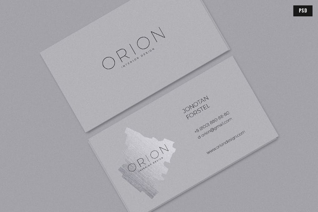 art director's pick of beauty salon business card #4
