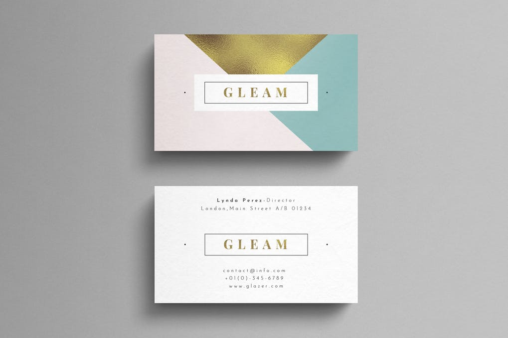 art director's pick of beauty salon business card #6