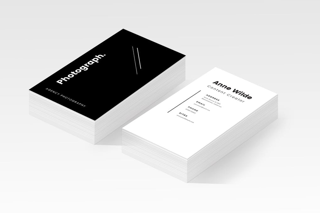art director's pick of black business card #1