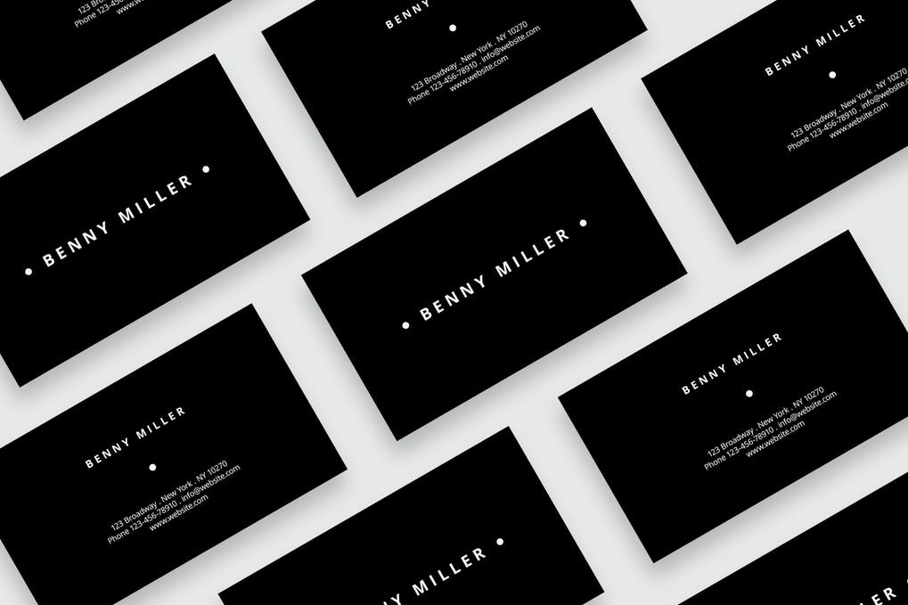art director's pick of black business card #2