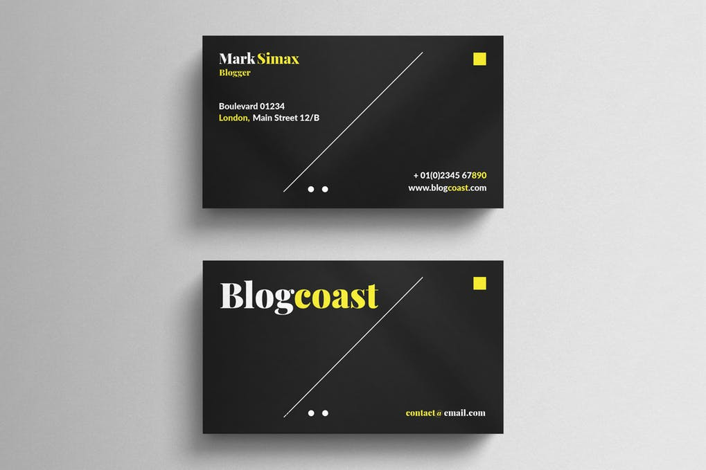 art director's pick of black business card #4