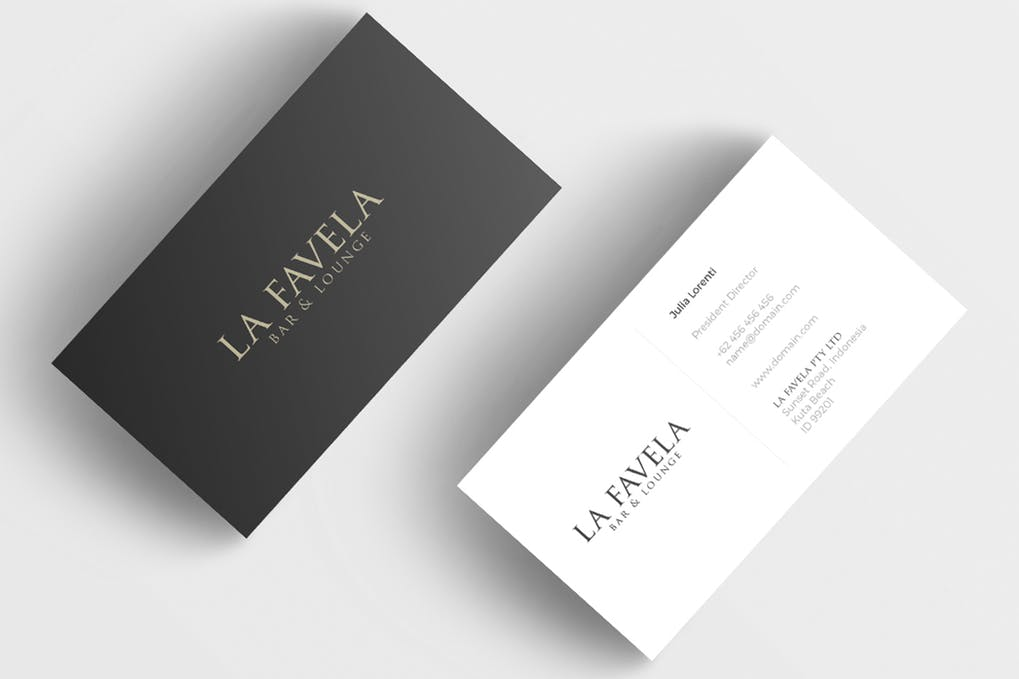 art director's pick of black business card #5