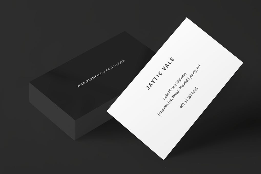 art director's pick of black business card #6