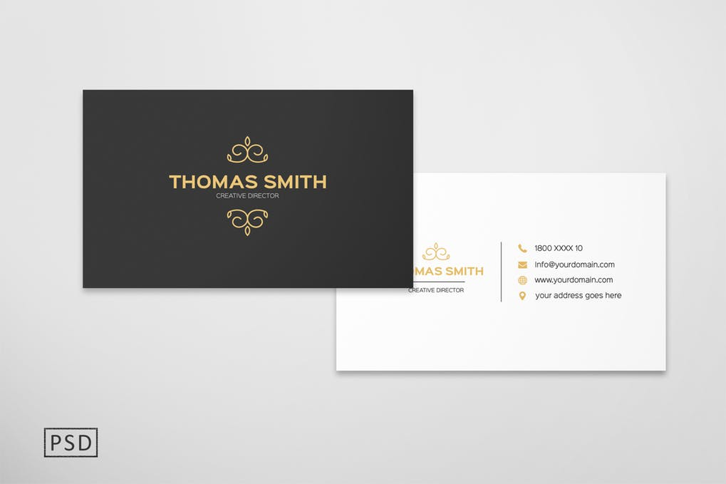 art director's pick of black business card #7