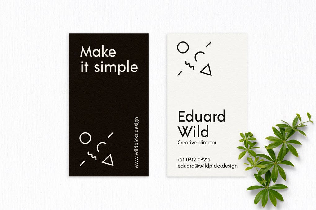 art director's pick of blogger business card #28