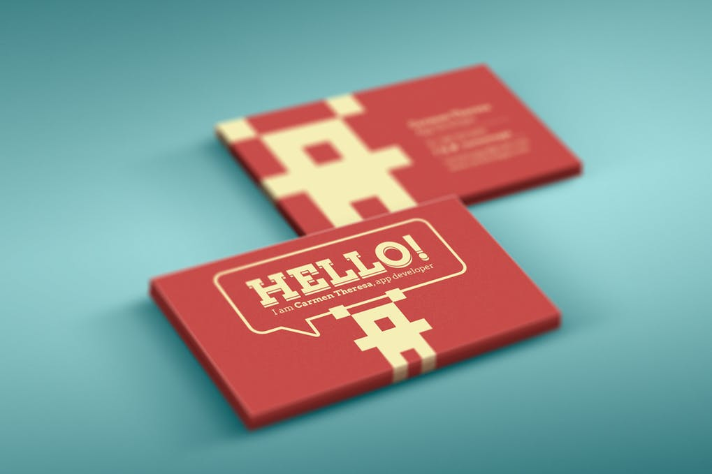 art director's pick of blogger business card #47