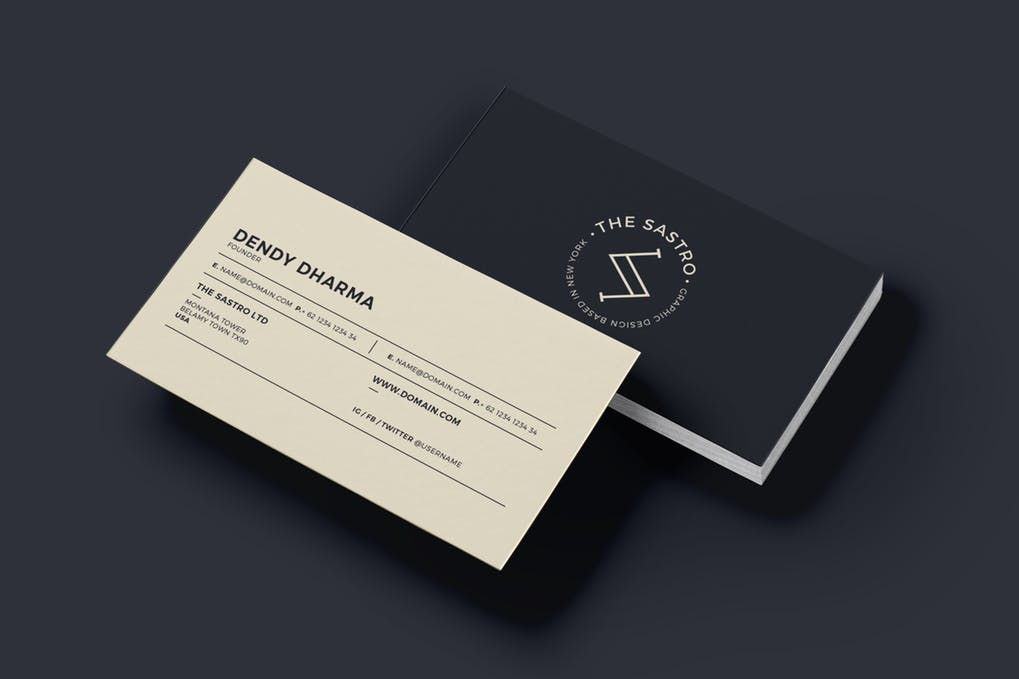 art director's pick of boutique business card #6