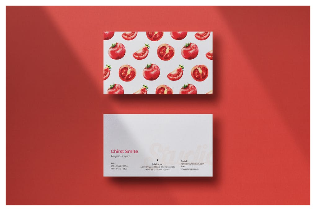 art director's pick of chef business card #4