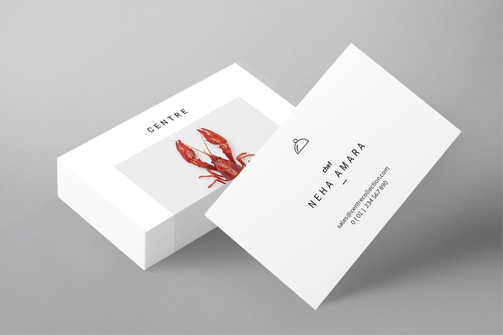 art director's pick of chef business card #5