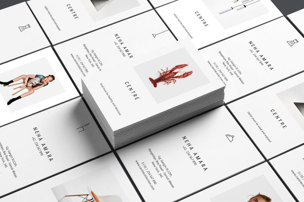 art director's pick of chef business card #6