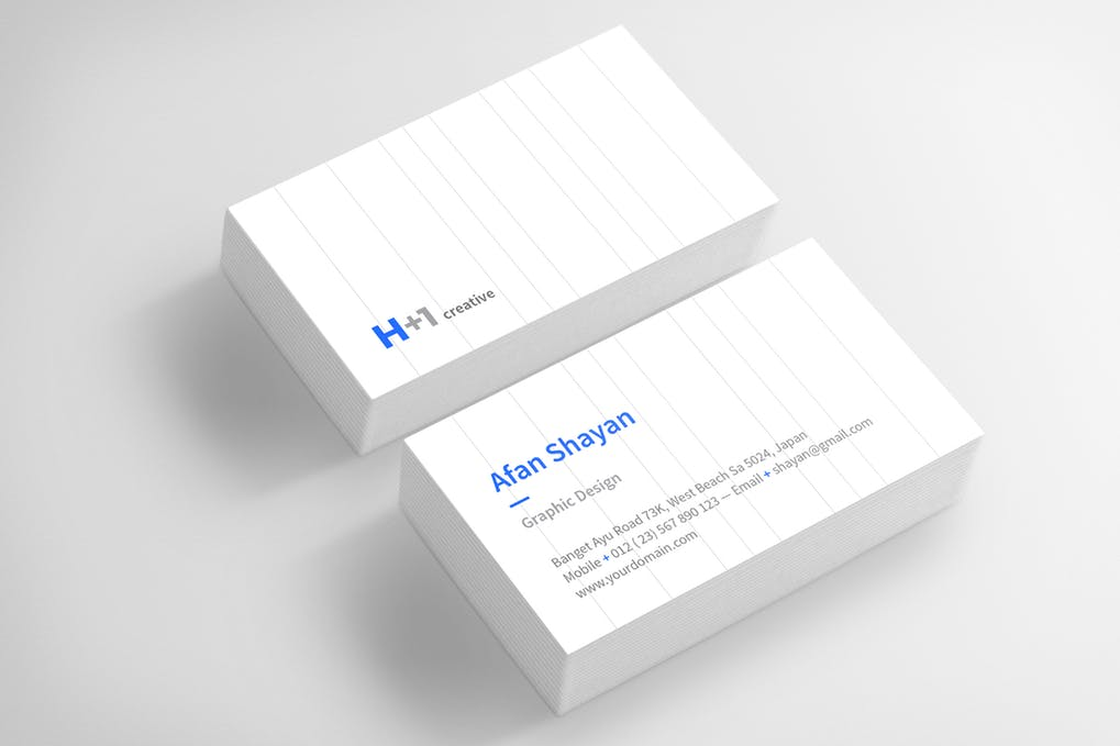 art director's pick of cleaning business card #5
