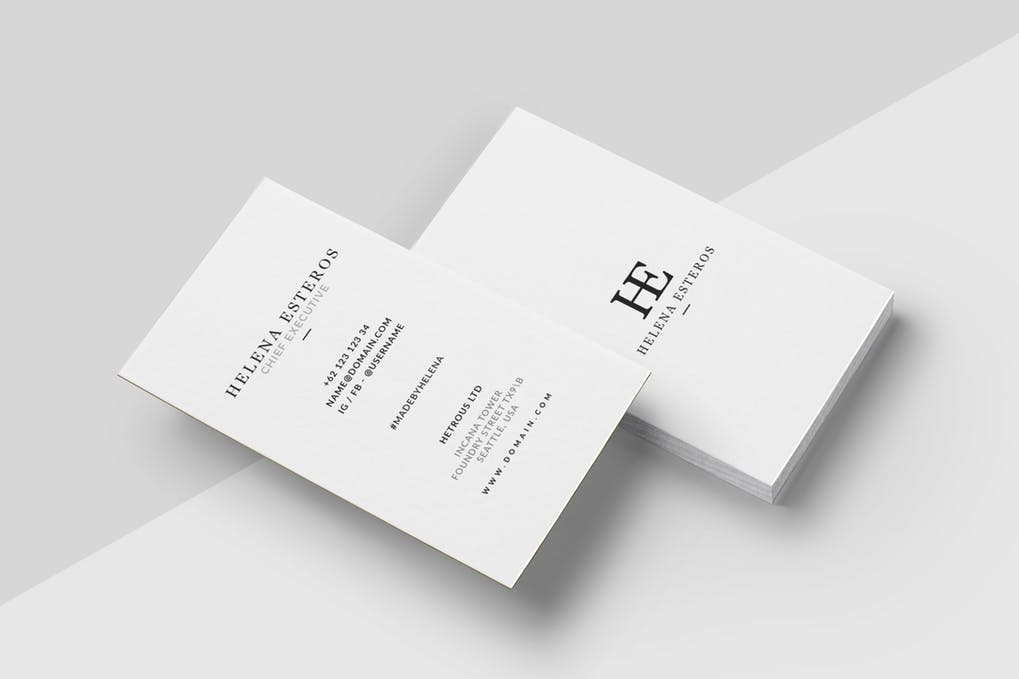 art director's pick of cleaning business card #7