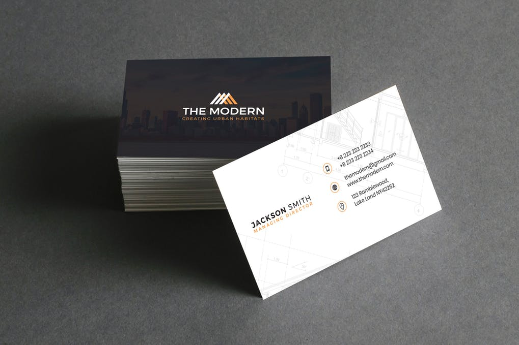 art director's pick of construction business card #10