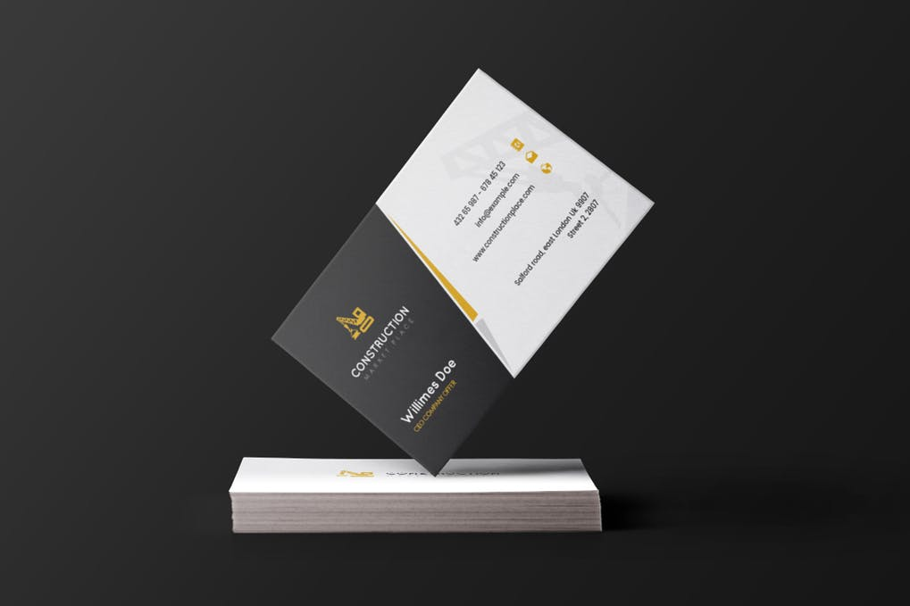 art director's pick of construction business card #2