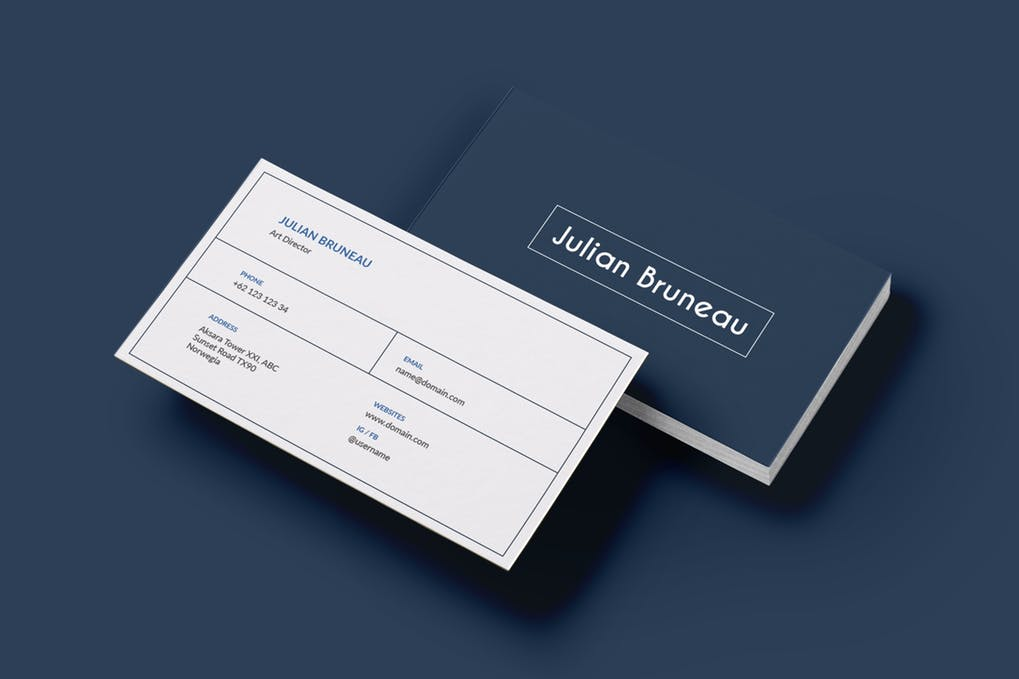art director's pick of construction business card #7