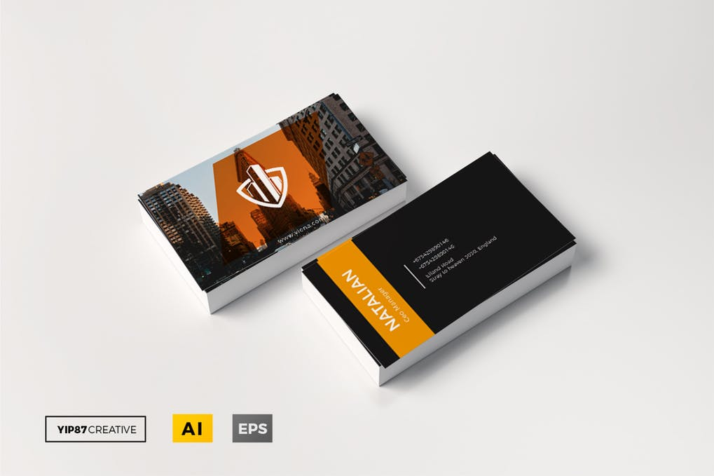 art director's pick of construction business card #9
