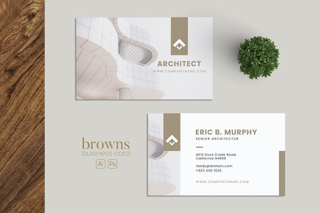 art director's pick of contractor business card #6