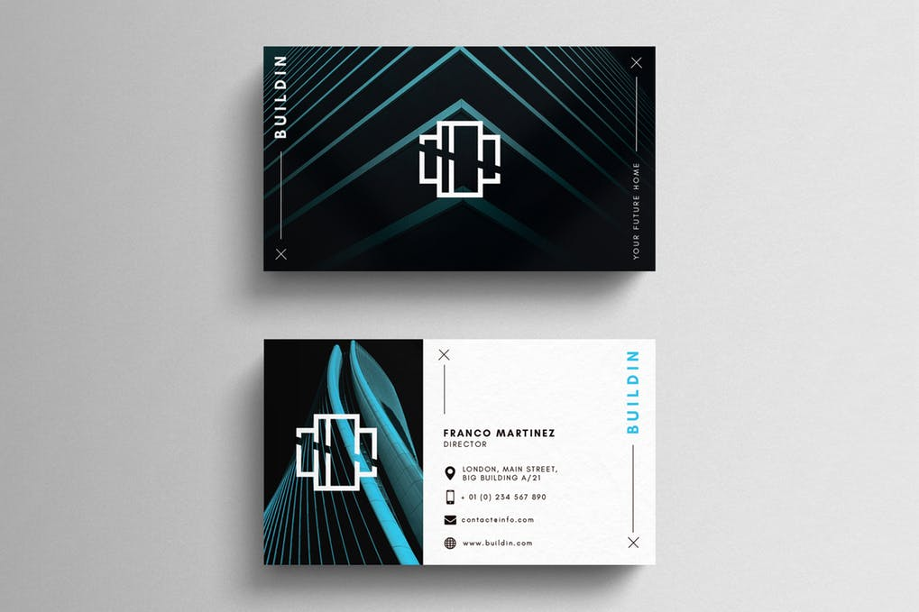 art director's pick of contractor business card #7