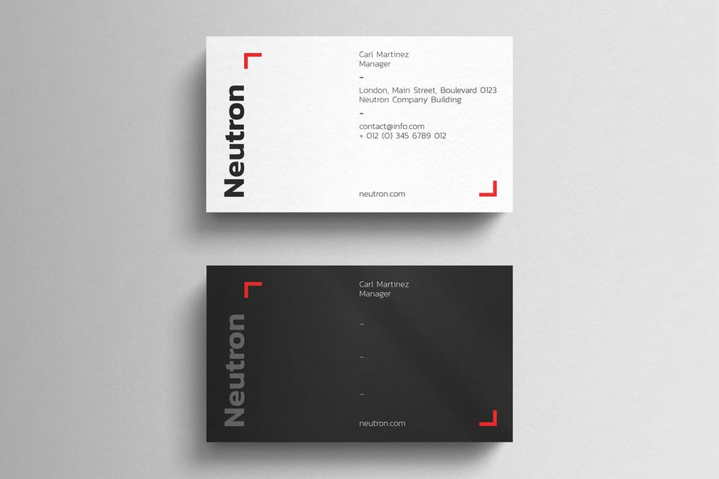 art director's pick of contractor business card #8