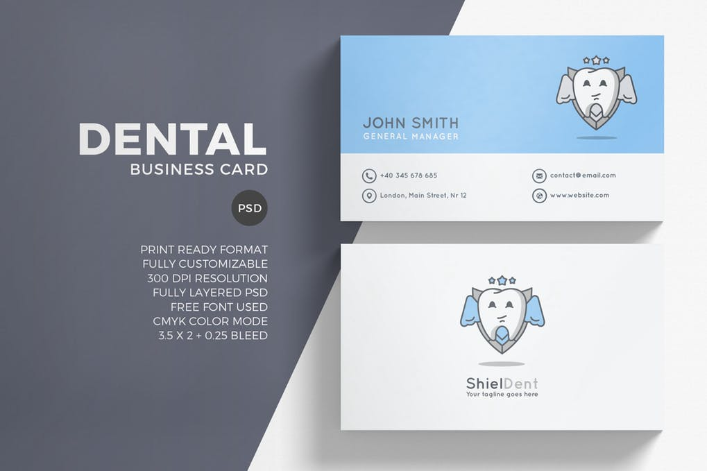 art director's pick of dental business card #1
