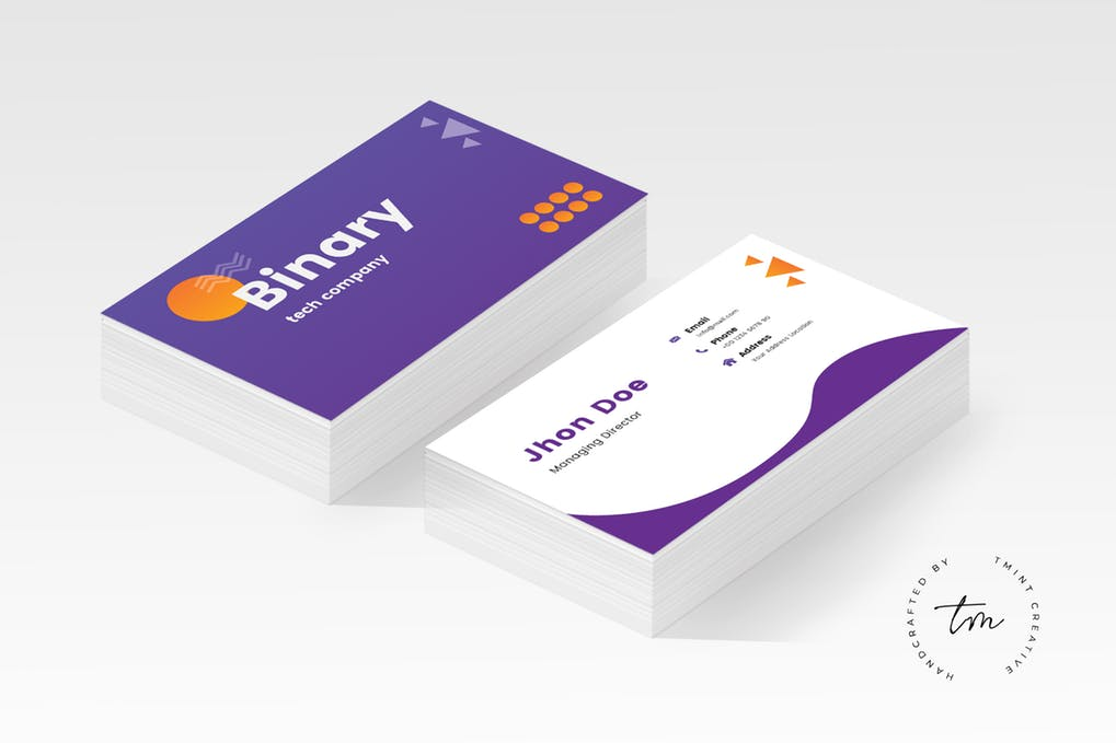 art director's pick of dental business card #11
