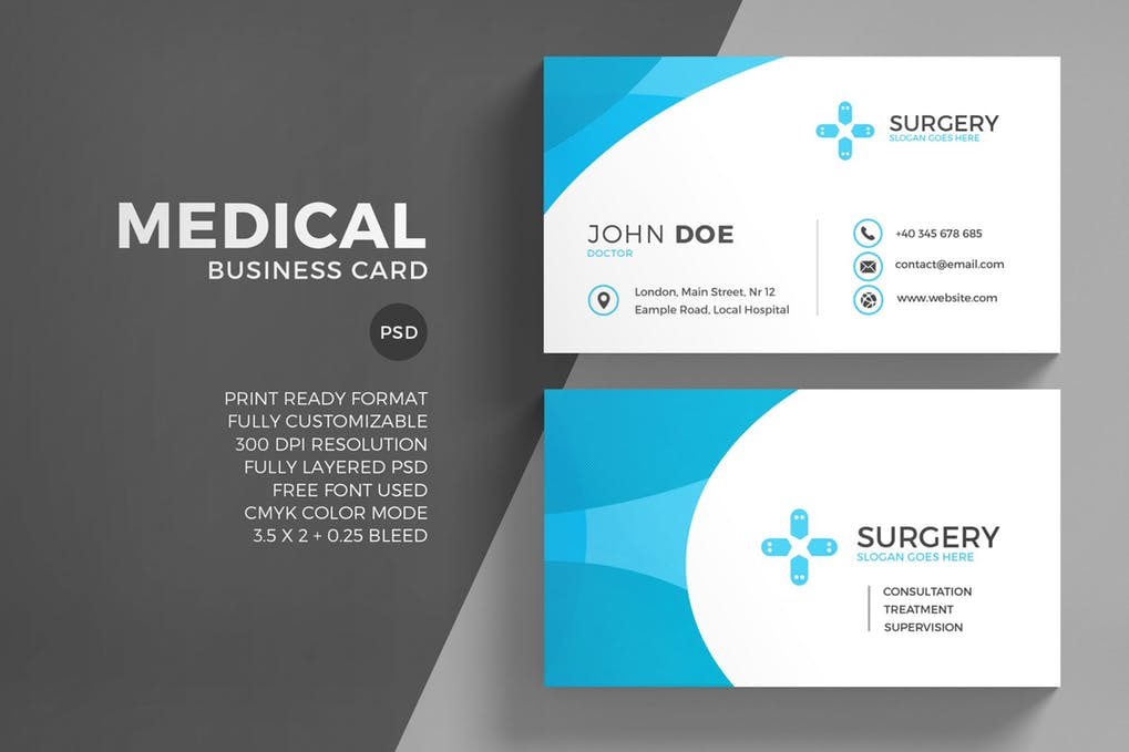 art director's pick of dental business card #5