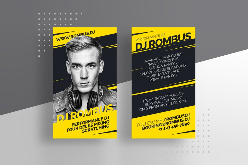 art director's pick of DJ business card #1