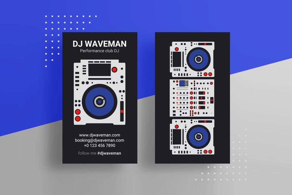 art director's pick of DJ business card #3