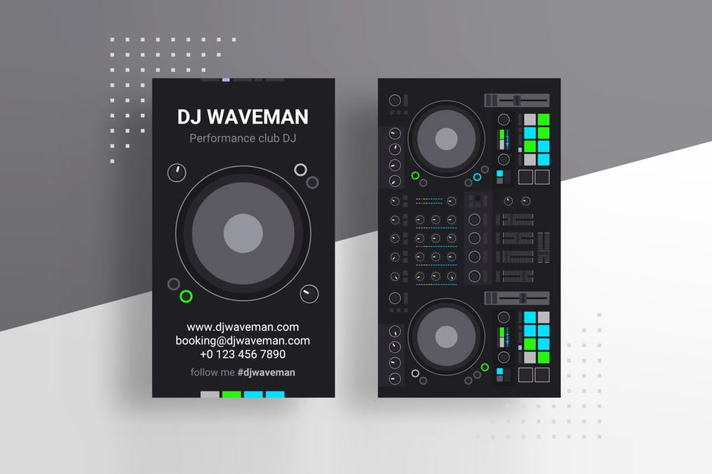 art director's pick of DJ business card #4