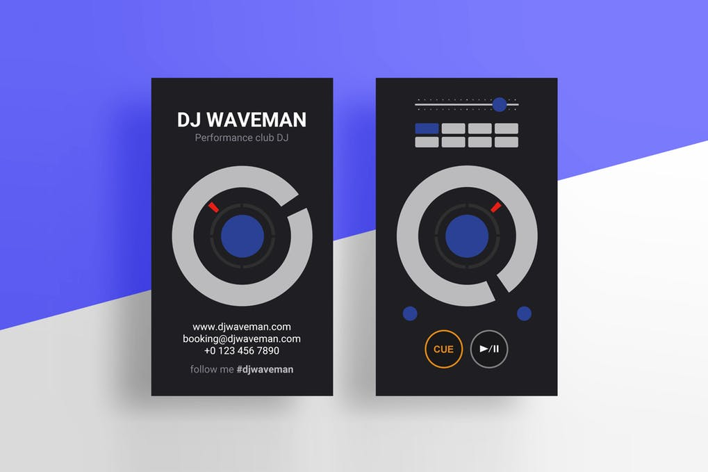 art director's pick of DJ business card #6