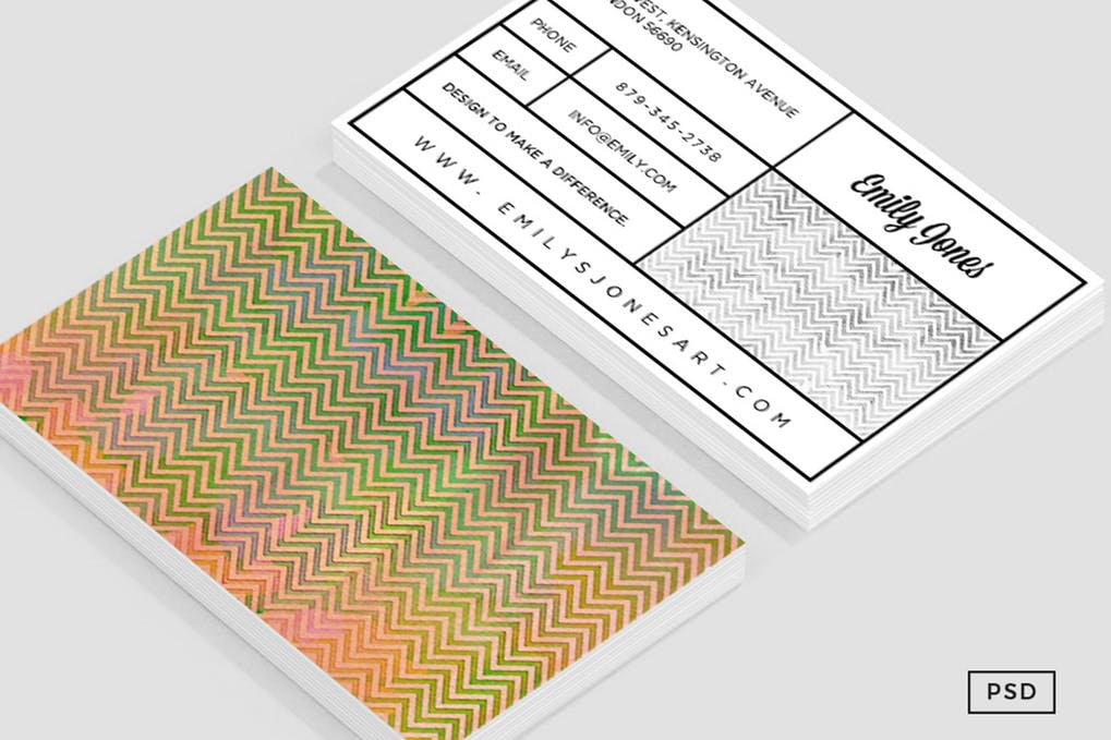 art director's pick of elegant business card #7