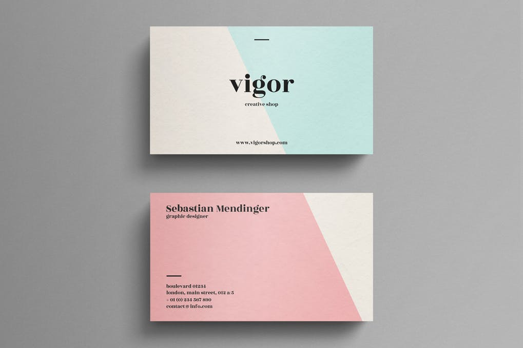 art director's pick of elegant business card #9