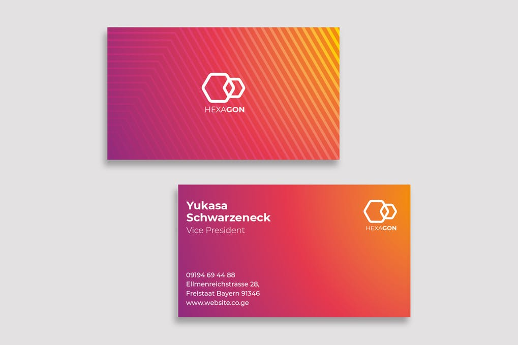 art director's pick of engineering business card #1