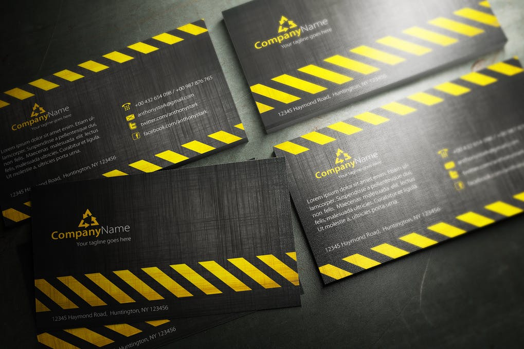 art director's pick of engineering business card #4